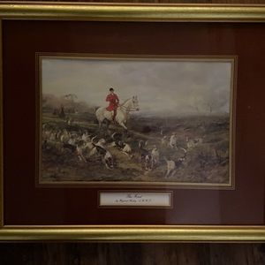 The Ride. Framed artwork by Heywood Hardy